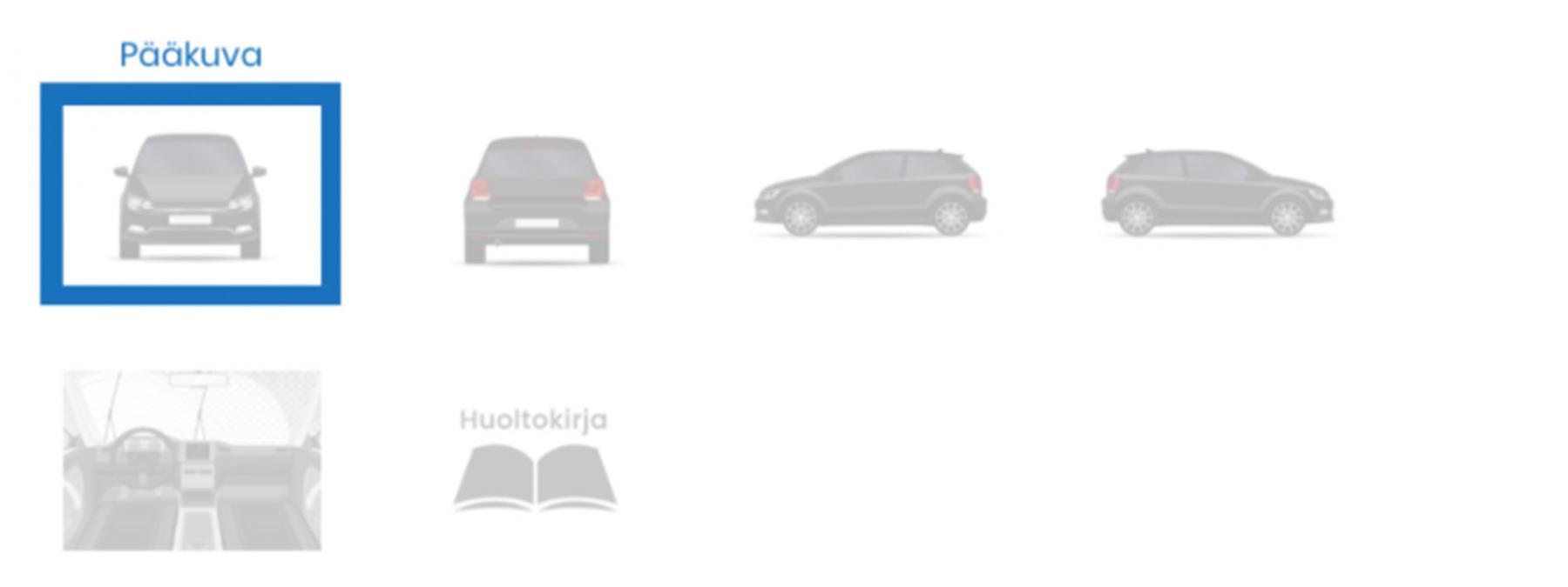 Kuvakulmia autosta hyvän auton myynti-ilmoituksen tekemiseen.